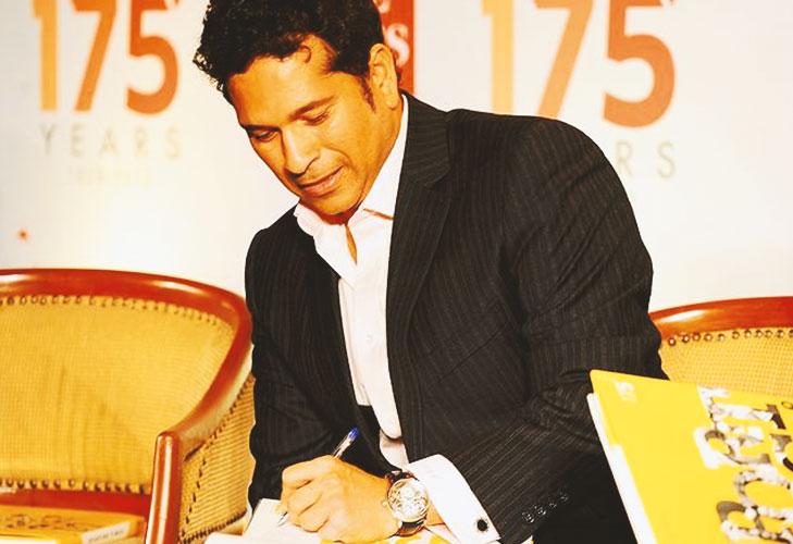 Sachin handwriting left hand @TheRoyaleIndia