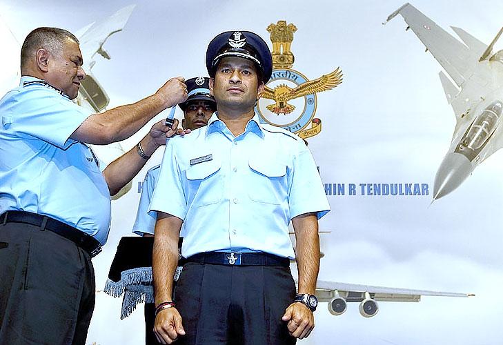 Sachin tendulkar honary captain air force @TheRoyaleIndia