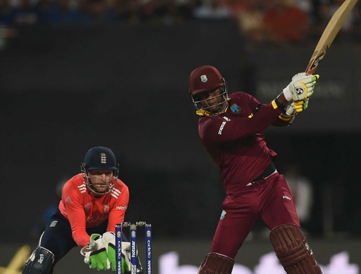 Samuels 85 not out wc T20 @TheRoyaleIndia