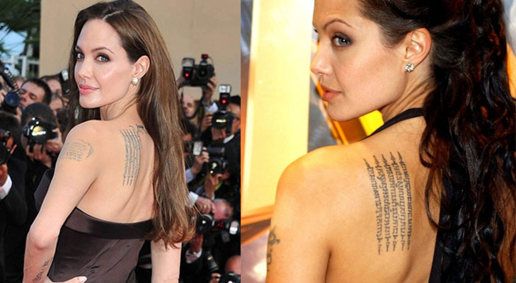 angelina jolie buddhist tattoo @TheRoyaleIndia