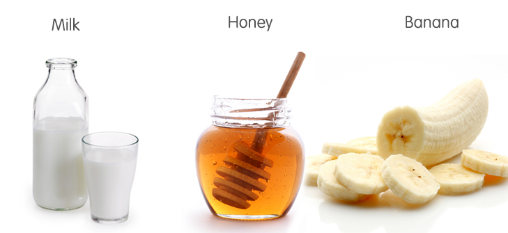 Banana honey milk hair mask