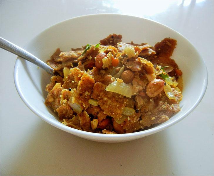 Chapatti upma recipe