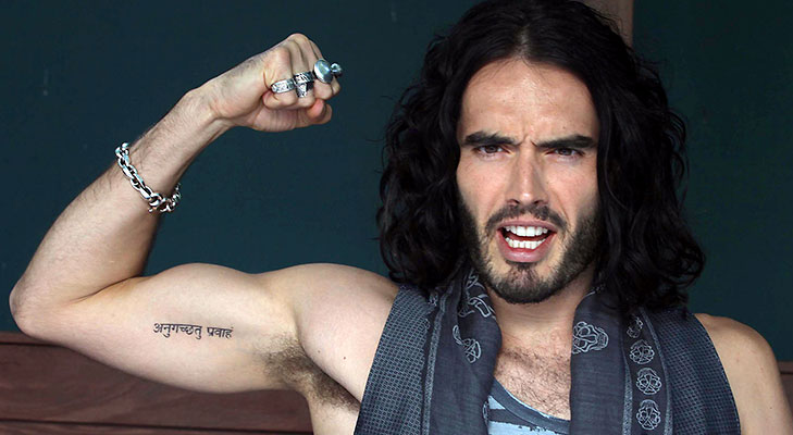 hollywood celebrities indian tattoos russel brand @TheRoyaleIndia
