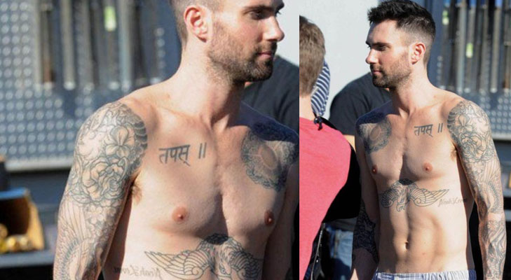 hollywood stars sanskrit tattoos adam levine @TheRoyaleIndia