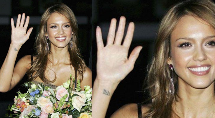 jessica alba indian sanskrit tattos