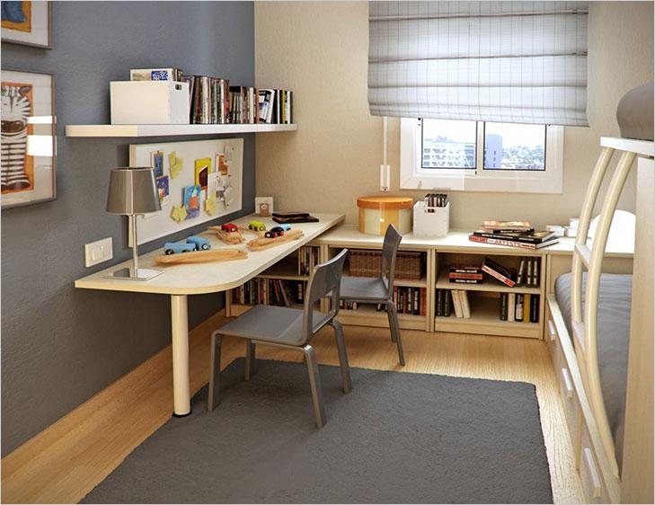 Kid's room avoid bookshef over study table vastu