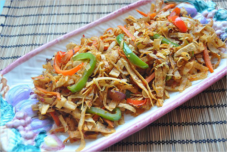 Leftover Chapati noodle recipe