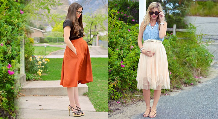 maternity fashion skirts