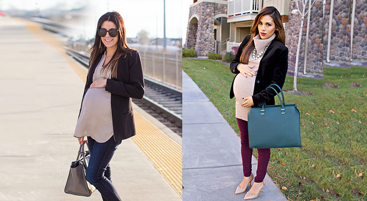 Maternity fashion tips yoga pants trousers