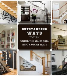 10 AWESOME WAYS TO GIVE A MAKEOVER TO THE AREA UNDER STAIRS