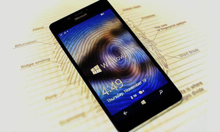 Windows 10 mobile with fingerprint scanner @TheRoyaleIndia
