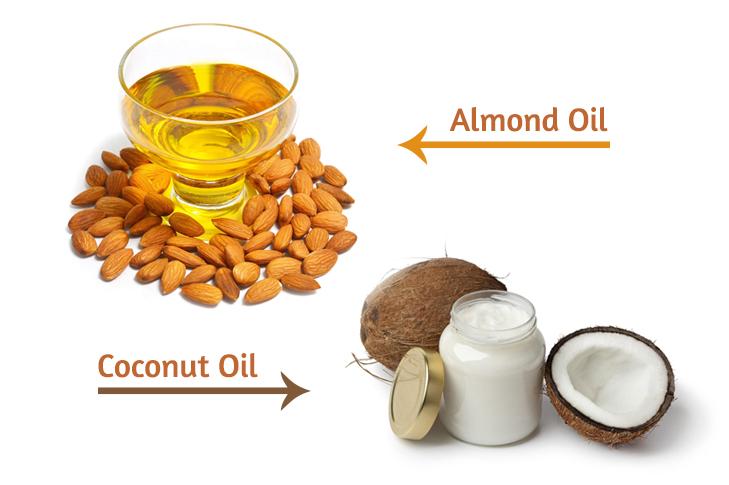 Almond oil coconut oil moisturise lips