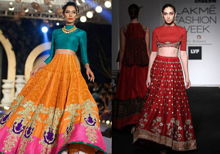 Bridal lehenga replace blouse @TheRoyaleIndia