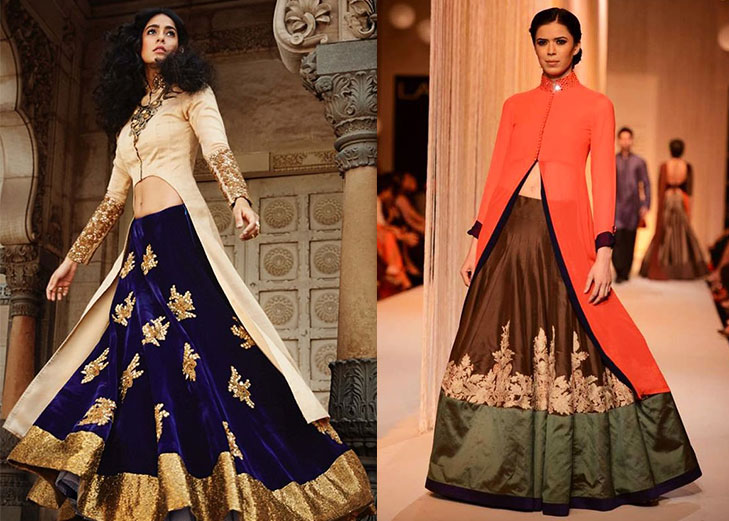 Bridal lehnga long jacket @TheRoyaleIndia