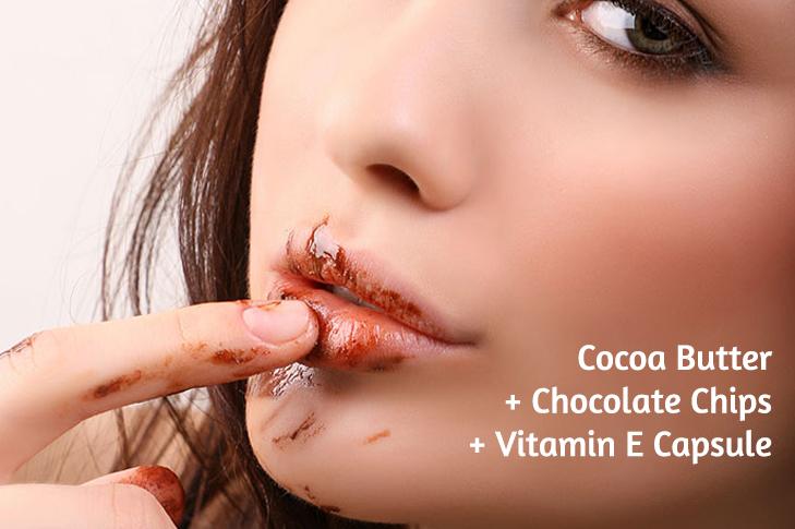 Chocolate lip treatment dark lips home remedy