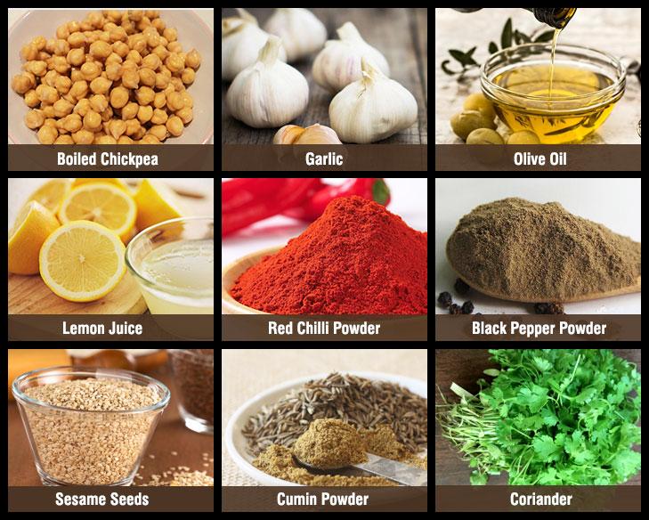 Hummus sauce ingredients @TheRoyaleIndia