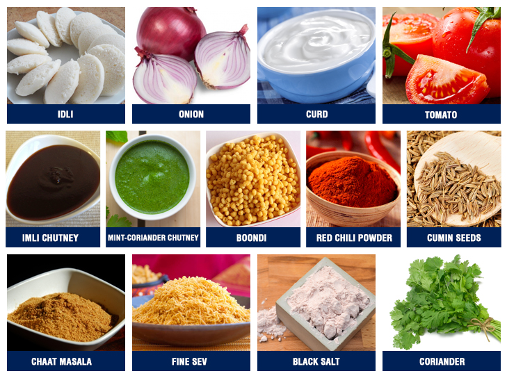 Idli chaat ingredients @TheRoyaleIndia