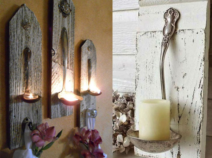 Ladle candle holder