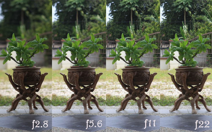 Landscape photography tips depth of field comparision @TheRoyaleIndia