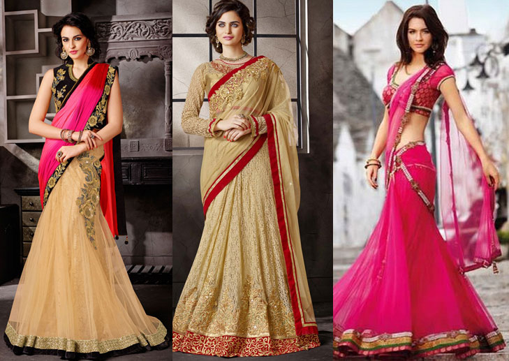 Make saree out of lehenga @TheRoyaleIndia