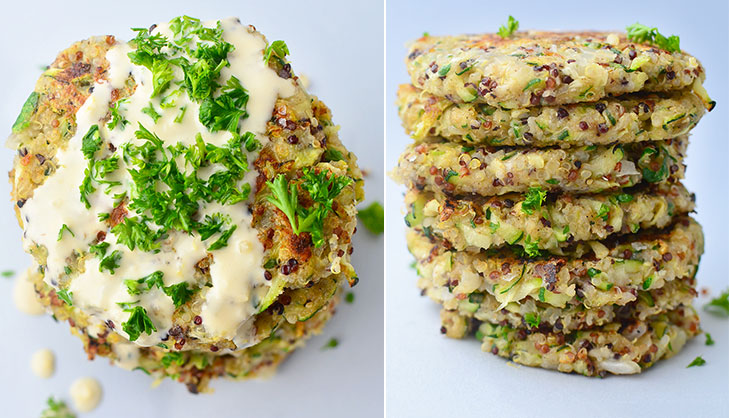 Quinoa zucchini fritters recipe @TheRoyaleIndia