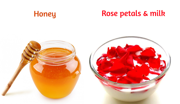 Rose petal milk honey dark lips remedy