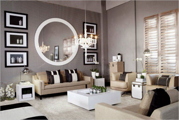 How to make your living room appear bigger the royale for Mirrors for small spaces