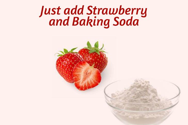 Strawberry baking soda dark lips remedy