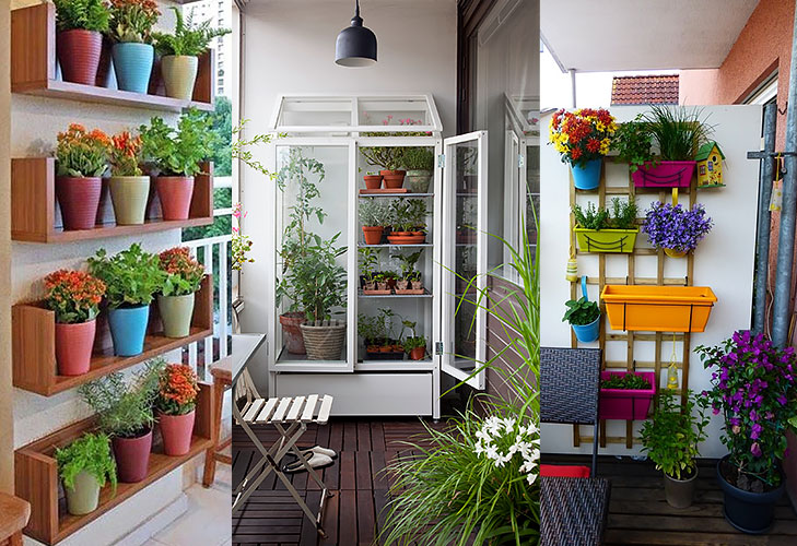 Balcony garden tips the royale for Balcony vertical garden