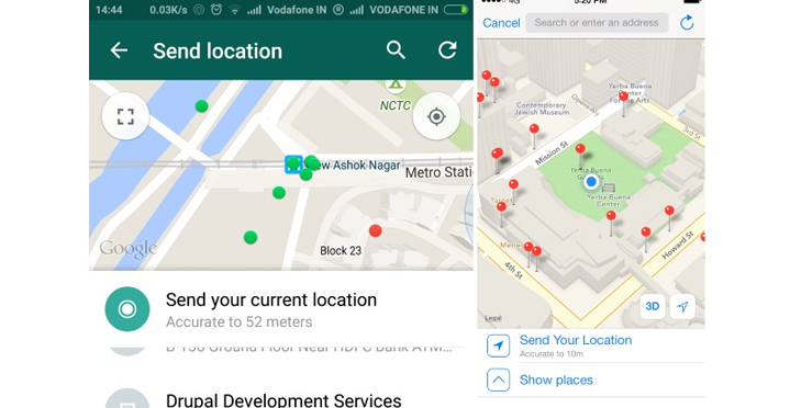 Watsapp location easy way to find nearby hotspots @TheRoyaleIndia