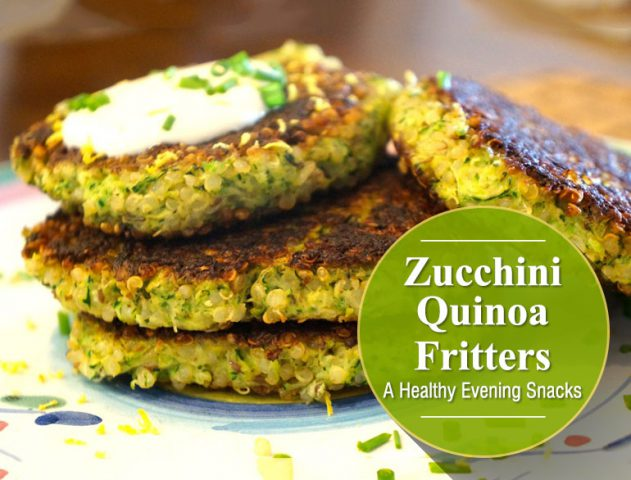 Zucchini Quinoa Fritters @TheRoyaleIndia