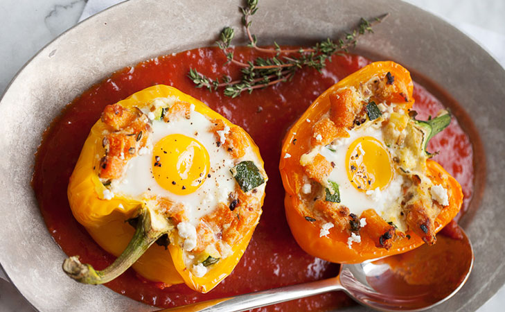 Baked egg recipes bell pepper @TheRoyaleIndia