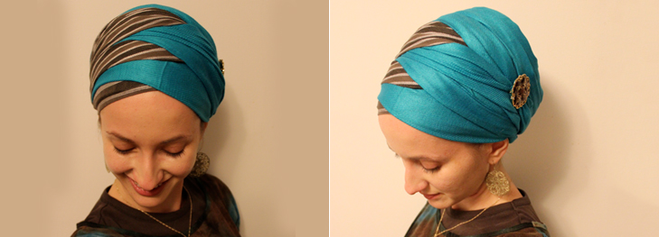 Criss cross modern hijab draping style @TheRoyaleIndia