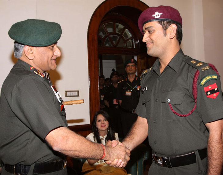 Dhoni army honorary rank @TheRoyaleIndia