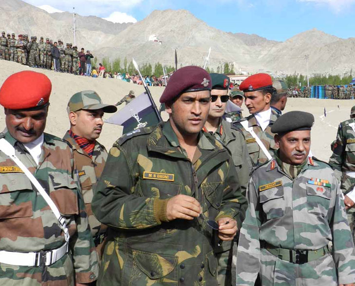 Dhoni army honorary rank colonel @TheRoyaleIndia