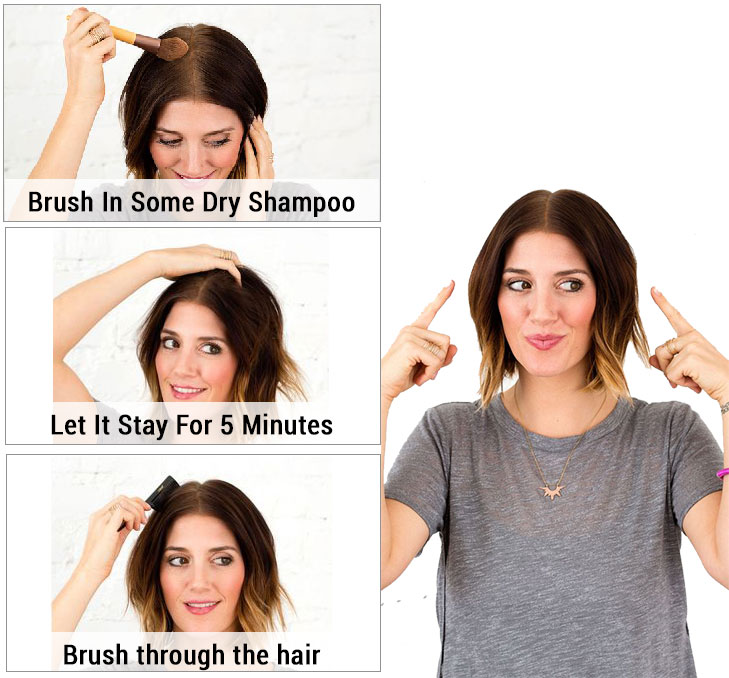 Dry shampoo steps @TheRoyaleIndia