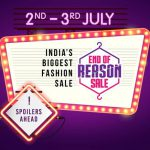 FORGET EVERY REASON & SHOP TILL YOU DROP @ THIS YEAR'S 'END OF REASON SALE' ON MYNTRA!