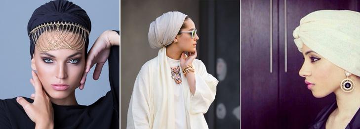Turban style hijab modern draping style @TheRoyaleIndia