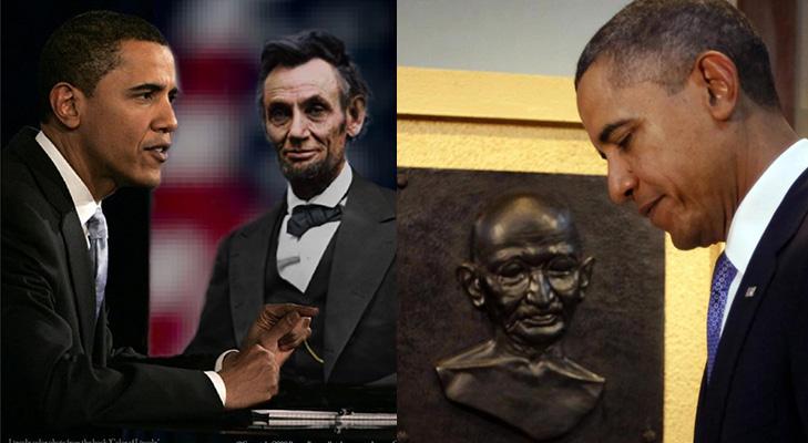 Barack obama role models gandhi lincon @TheRoyaleIndia