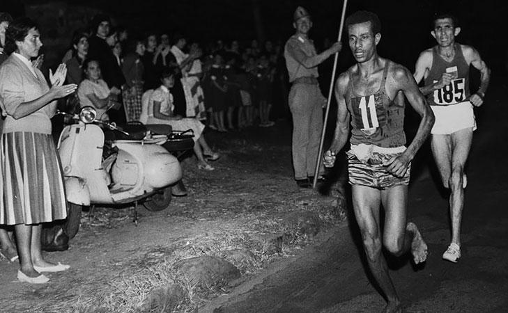 Barefoot marathon runner 1960 gold medal @TheRoyaleIndia