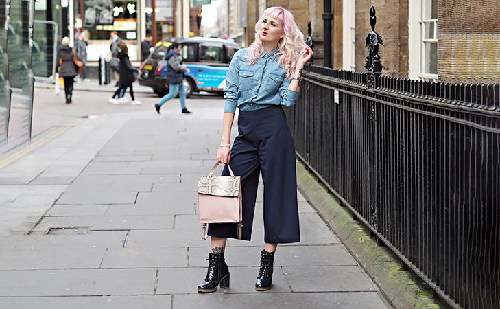 Culottes styling tips tuck in shirts @TheRoyaleIndia