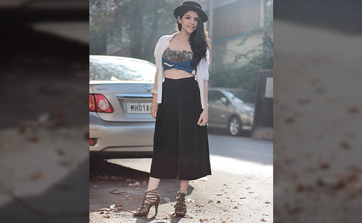 Culottes with hat shrug @TheRoyaleIndia