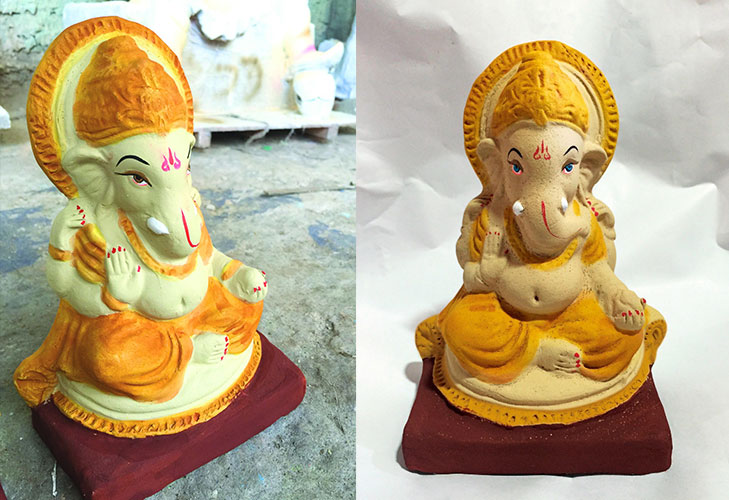 Fish friendly ganesha idols @TheRoyaleIndia