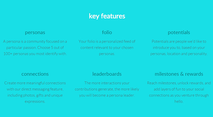 Hello social network key features @TheRoyaleIndia