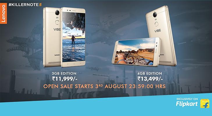 Lenovo vibe k5 note sale flipkart @TheRoyaleIndia