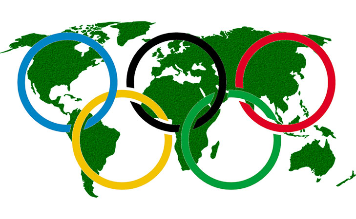 Olympic rings symbol @TheRoyaleIndia