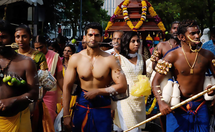 thaipusam body piercing @TheRoyaleIndia