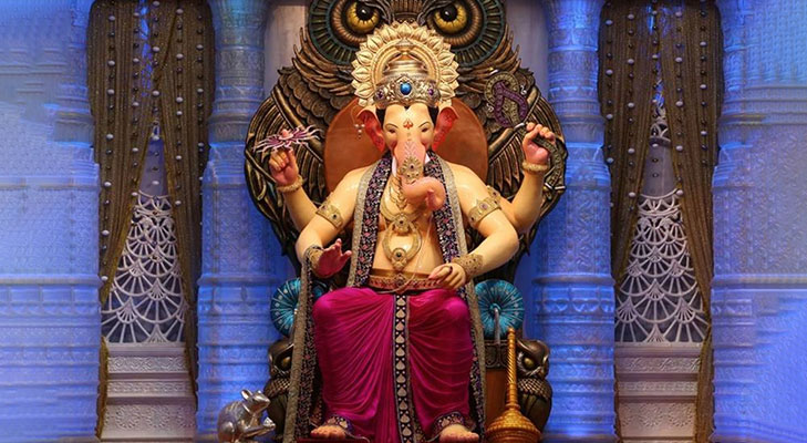 First look lalbaughcha raja 14 feet height 2016 @TheRoyaleIndia
