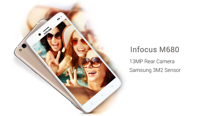 Smartphone best selfie rear camera infocus M680 @TheRoyaleIndia