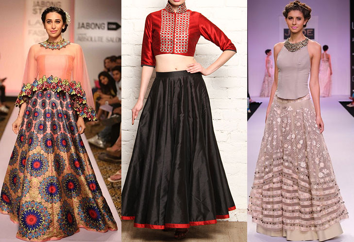 diwali fashion tips crop top with long skirt @TheRoyaleIndia
